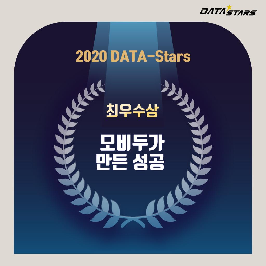2020 DATA-Stars 최우수상 모비두가 만든 성공