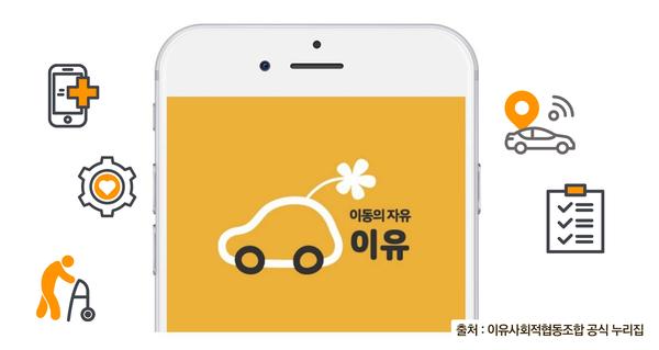 어플리케이션 '이동의 자유' 예시이미지 - 출처 : 이유사회적협동조합 공식 누리집